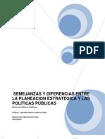 Semejanzas y Diferencias Entre La Planeacion Estrategica y Las Politicas Publicas Repaired)
