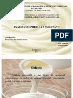 Analiza Senzoriala a Smantanii