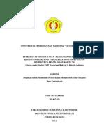 "EFEKTIVITAS SPECIAL EVENT ""XL JAGOAN MUDA"" SEBAGAI KEGIATAN MARKETING PUBLIC RELATIONS (MPR) DALAM MEMBENTUK BRAND IMAGE KARTU XL (Survey pada Pelajar SMP Perguruan Rakyat 1, Jakarta Selatan)"