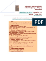 LAMPEA-Doc 2011 – numéro 24 / Vendredi 1er juillet 2011