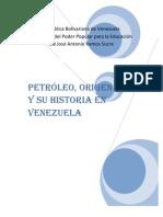 Historia Del Petroleo en Venezuela