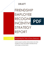 Friendship Employee Recognition Incentive Strategy Report Drft