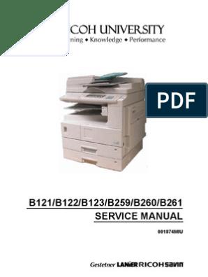 Manual de Servicio 2020 y 2020D | Image Scanner | Photocopier