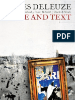 Deleuze, Gilles - Image and Text
