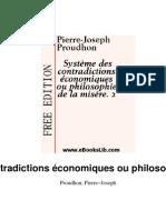 Proudhon - Système des contradictions économiques ou philosophie de la misère.2