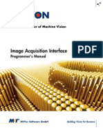 Image Acquisition Interface Programmers Manual