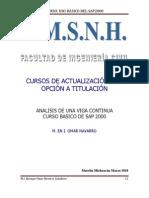 MANUAL PARA ANÁLISIS DE VIGAS-SAP 2000_v09