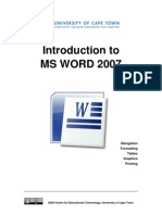 CET MS Word 2007 Training Manual v1.2