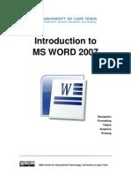 CET MS Word 2007 Training Manual v1.2