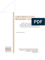 Informe Córdoba Transparente - El rol de la justicia cordobesa como garante del Derecho de Acceso a la Información Pública