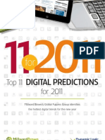 11 Digital Predictions for 2011 Millward Brown