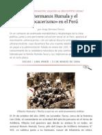 Los hermanos Humala y el etnocacerismo en Perú