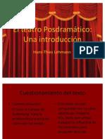 El teatro Posdramático. Silvia Palma