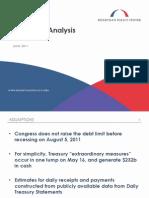 Debt Ceiling Analysis - June 2011 - August 2011
