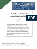 2007 October Merchant Acquiring
