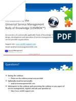 Introduction to USMBOK-2010