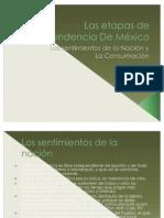 Las etapas de independencia De México