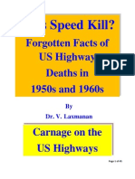 Does Speed Kill? Forgotten US Highway Deaths in 1950s and 1960s