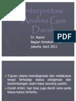 Interpretasi Analisa Gas Darah