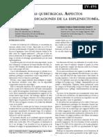 ESPLENOPATIAS QX. ASPECTOS CLÍNICOS E INDICACIONES DE LA ESPLENECTOMIA