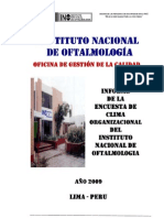 4.Informe Encuesta Clima Organizacional 2009