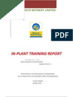 In-plant Training Report