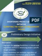 Clarifying the Scope of Preliminary Design Presentation