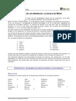 2E P Fisicas Minerales La Dureza de Los Miner Ales, La Escala de Mohs