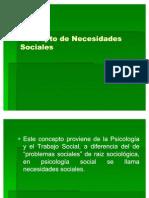 01-Concepto de Necesidades Sociales