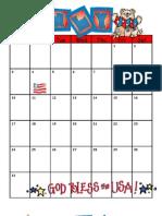 Calendar 1112 for Non District