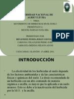 Movimiento de herbicidas en El Suelo.