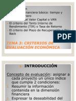 147 Criterios de Evaluacion Economica
