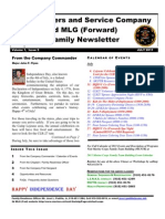 Family Newsletter HQSVC Co 1 July 2011