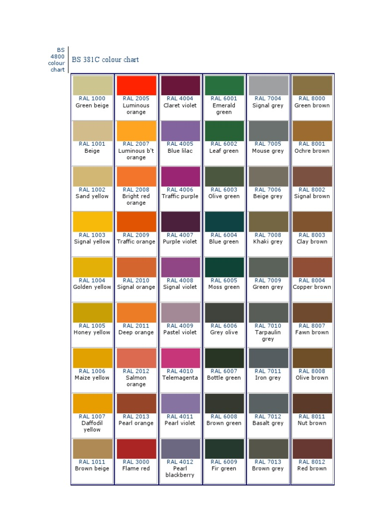Color chart bs 4800 ral color chart bs 4800 geenschuldenfo Image collections