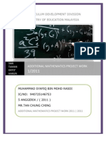 Additional Mathematics Project Work 1