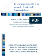 Análise do Comportamento e os Transtornos de Personalidade