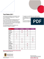 New Ielts Test Dates (Takers) Db 2011