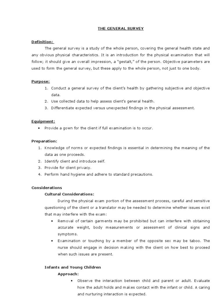 Standard Physical Exam Form