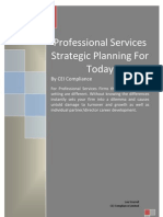 Professional Services Strategic Planning for Today Jun2011