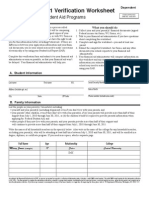 Verification Worksheet Dependent Students