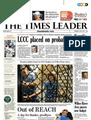 Times Leader 07-02-2011 | Internship | Wilkes Barre