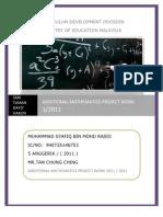 59167147 Additional Mathematics Project Work 1