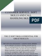 Customer Service , Soft Skills and Call Handling