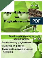 Ang Mahusay Na Pagkukuwento