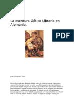 Escritura gótico libraria
