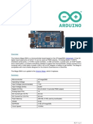 DataSheet - Arduino Mega2560   Arduino   Microcontroller