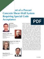 Precast, Pre Stressed Wall Panels