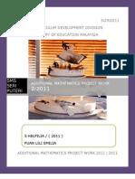 57529881 Additional Mathematics Project 2 2011