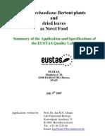 Summary Stevia Nf