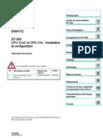 CPU 31xC Et CPU 31x Installation
